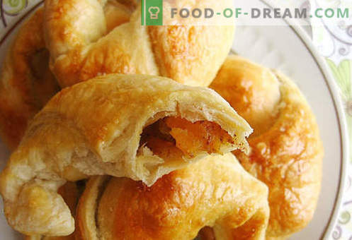 Puff bagels (puff pastry) - the best recipes. How to properly and tasty to make puff bagels.