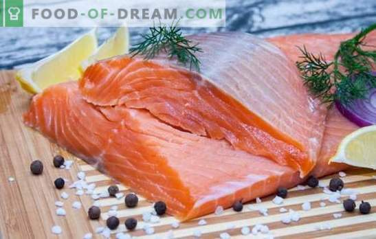 Diet on red fish: principles and menu for the week