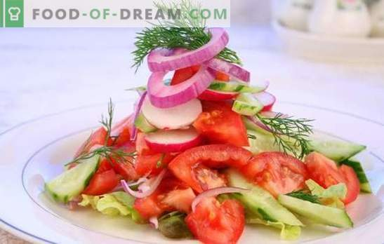 Fresh tomato salad: an old tale in a new way. Original recipes of salad from fresh tomatoes for holidays and weekdays