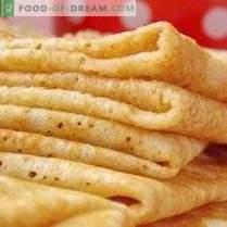 Pancakes on yeast dough