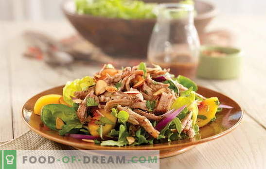 A simple salad with meat is a hearty snack. How to cook a simple salad with poultry, pork or beef