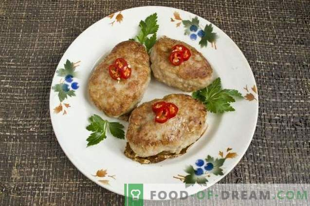 Juicy pork cutlets with potatoes