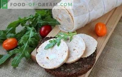 Home-made sausage: step-by-step recipe. How to make real homemade sausage - step by step recipes from natural ingredients