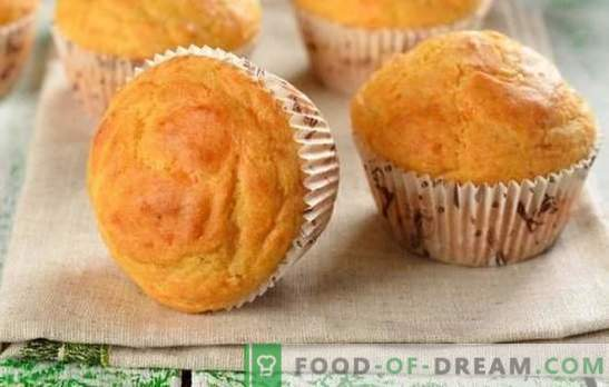Mayonnaise Cupcake - this is a twist! Recipes for homemade muffins on mayonnaise with raisins, jam, cocoa, starch, butter and kefir