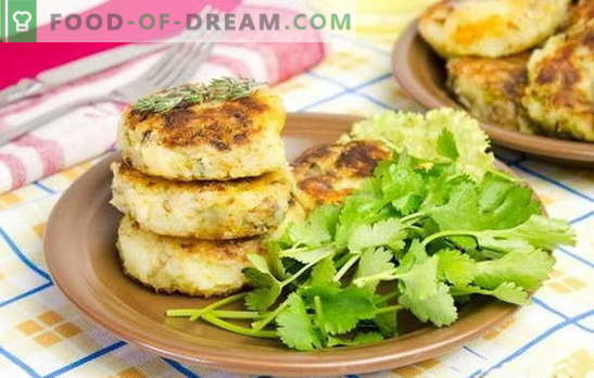 Potato patties with a filling - an unusual dish from the usual products. Recipes potato patties with cheese, eggs, mushrooms, meat