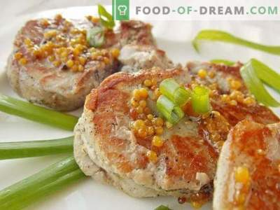 Pork Medallions in Honey Mustard Sauce