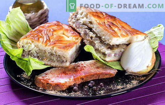 Pie with cabbage and meat: filling ideas for savory pastries. Types of dough for pie with cabbage and meat: the best recipes