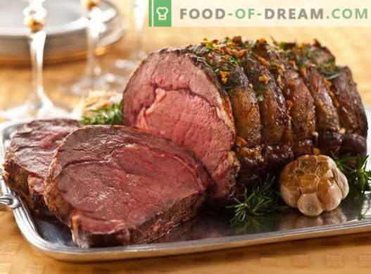 Meat in the sleeve - the best recipes. Cooking properly and delicious meat in the sleeve.