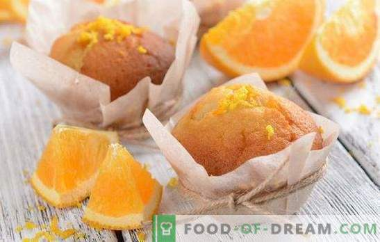 Orange muffins - cheer up! Recipes of fragrant, tender, sweet and airy orange muffins