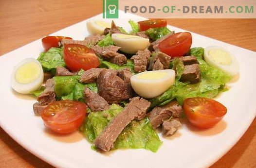 Sałatki z mięsem - najlepsze przepisy. Jak właściwie i smacznie gotować sałatki mięsne.