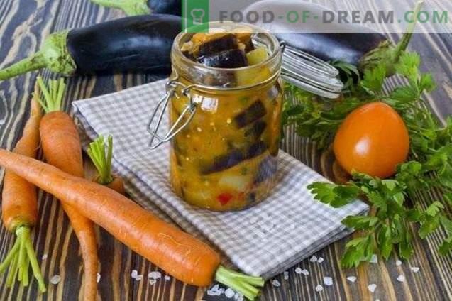 Aubergine mit Karotten - Gemüsesalat für den Winter