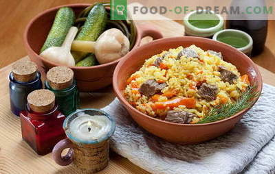 How to cook pilaf in a pan is not worse than in a cauldron. Recipes pilaf in a pan with meat, chicken, vegetables and dried fruits