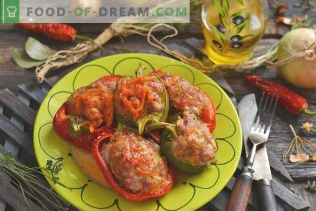 Stuffed Peppers with Minced Rice