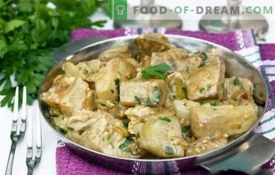 Eggplant with the taste of mushrooms for the winter - preservation for lovers of delicacies. Eggplant marinated for mushrooms