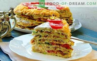 Squash cake with cheese - this is a snack! Recipes for different zucchini cakes with cheese and tomatoes, fish, minced meat