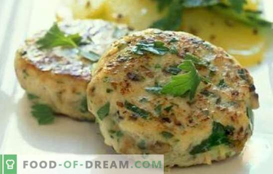 Chicken oatmeal cutlets - lush and juicy. How to cook chicken oatmeal patties: the best recipes