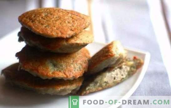 Homemade pancake dinner with minced meat - faster than you think. Ruddy pancakes with minced meat, cheese and vegetables