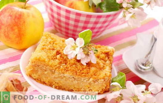 Curd apple pie - surprisingly easy! Recipes amazing curd pies with apples; tender and juicy
