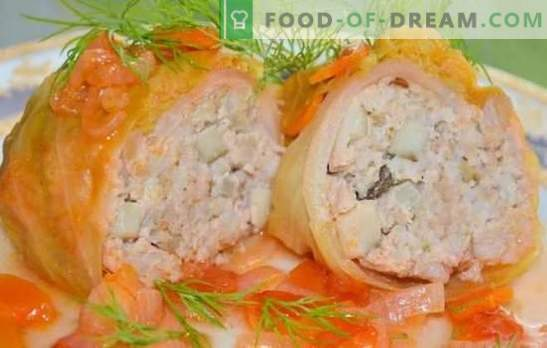 Step-by-step recipes for classic and lazy cabbage rolls with minced meat. Stuffed cabbage with minced meat in a pan, oven, multicooker (step by step)