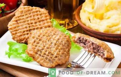 Waffle cakes with minced meat in batter - quickly and tasty! Simple recipes for snacks from wafer cakes with minced batter