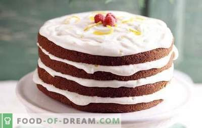 Cake with sour cream: simple and proven recipes. What types of dough are used for cake with sour cream