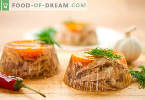 Aspic meat - the best recipes. How to properly and cook fill meat.