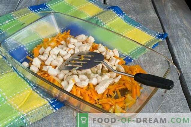 Zucchini casserole with chicken - without flour and extra calories