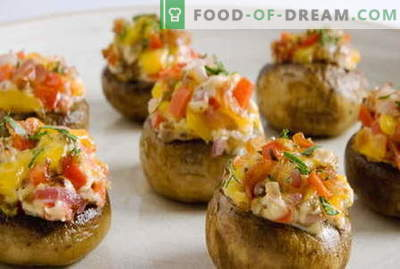 Stuffed mushrooms - the best recipes. How to properly and cook stuffed mushrooms.