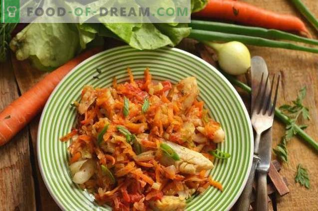 Vegetable hake - fish for a low-calorie, but tasty menu