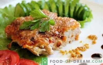 Côtelettes de poulet dans la poêle - comment les rendre juteuses? Côtelettes de poulet dans une casserole dans une casserole, pâte et autres options