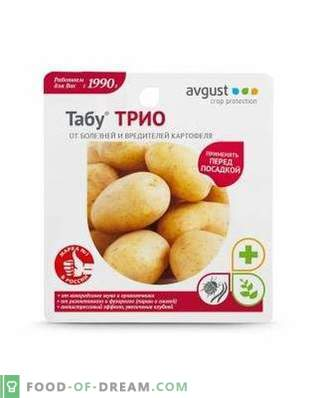 """""""Taboo TRIO"""" - safe pre-sowing prevention of potato diseases and pests"""