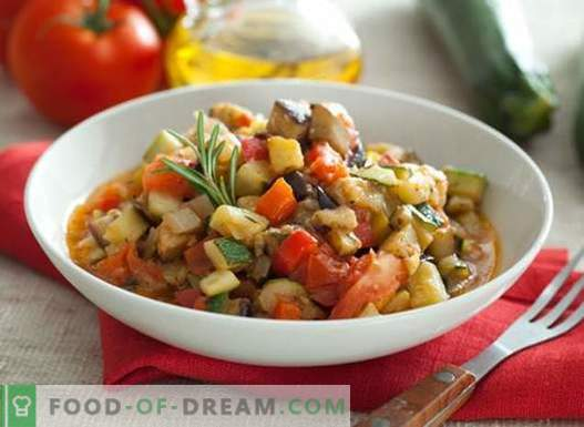Eggplant vegetable stew - the best recipes. How to properly and tasty cook stew with eggplant.