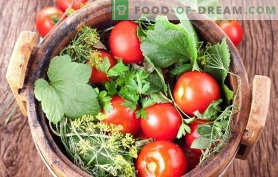 Pickling tomatoes for the winter: recipes blanks from whole and sliced tomatoes. Reveal the secrets of successful salting tomatoes for the winter