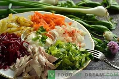 Vegetable Salad with Rainbow Meat