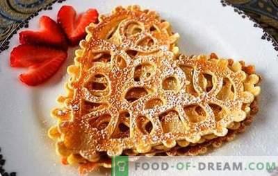 Openwork pancakes on milk - an appetizing miracle! Recipes openwork pancakes on milk for the most loved