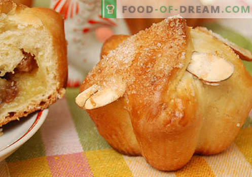 Homemade buns - the best recipes. How to properly and tasty cook homemade buns