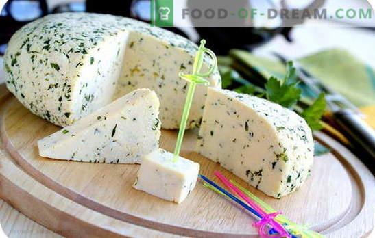 Skābais krējums sierā savā virtuvē: trīs stimuli mājas siera ražošanai. Vienkāršākā un populārākā skābo krējuma siera receptes