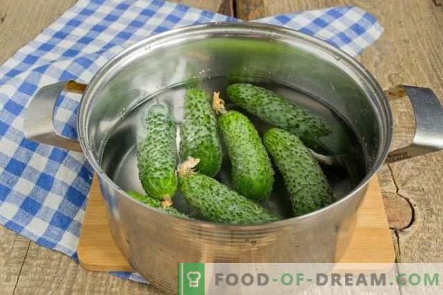 Cucumbers marinated with mustard and garlic