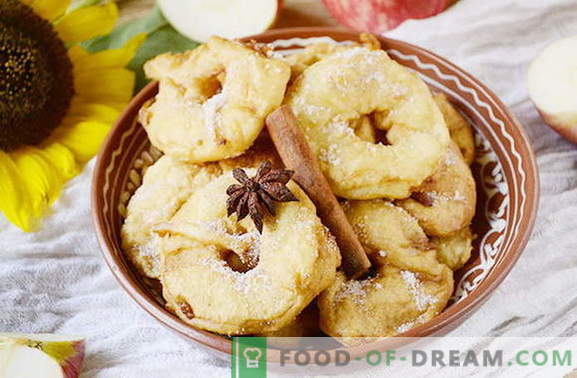 Delicious apple donuts in 20 minutes. Original delicacy for children and adults