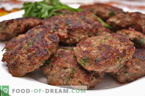 Minced meat cutlets are the best recipes. How to properly and tasty cook meatballs from minced meat.