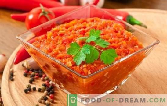 Delicious adjika - a great multi-dressing! Various recipes for delicious adjika gourmet