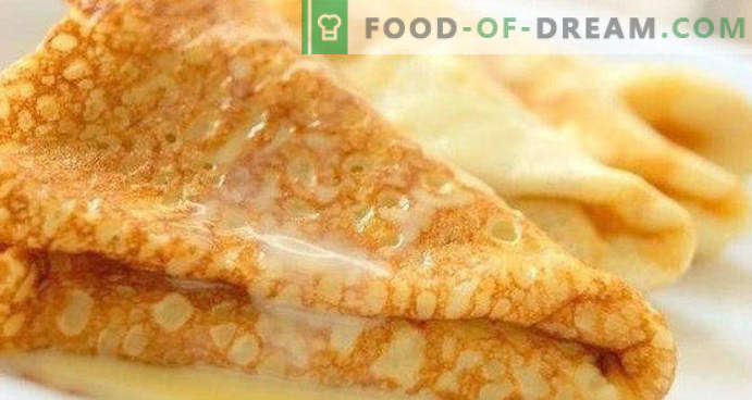 Dough for pancakes with milk, yeast, classic, sour, dry milk