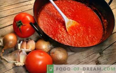 Tomato sauces for the winter: from Georgian ketchup to Crimean adjika. We prepare homemade tomato sauces for the winter