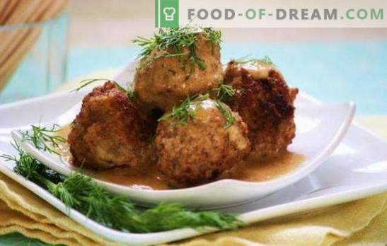 Hedgehogs from minced meat with rice and gravy: cooking secrets. Cooking hedgehogs from minced meat with rice in tomato, sour cream, vegetable gravy