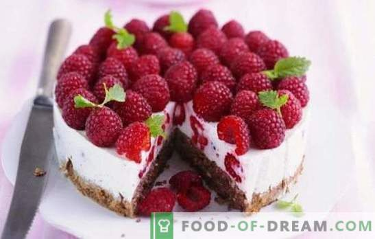 Raspberry cake is a summer temptation for sweet teeth. Recipes for raspberry summer cakes: raspberries in dessert - life is good!