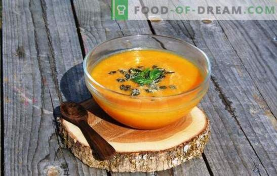 Pumpkin and apple puree is a healthy yummy! Recipes for different mashed apples and pumpkins: diet, dessert, children, for the winter