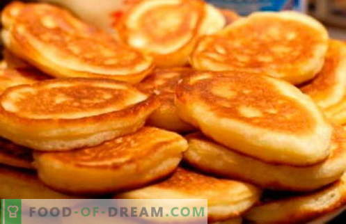 Fritters on kefir - the best recipes. How to properly and tasty cook pancakes on kefir.