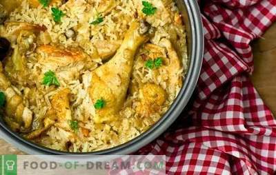 Chicken pilaf in a slow cooker: step by step. How to cook delicious chicken pilaf in a slow cooker: what else is added to it for taste