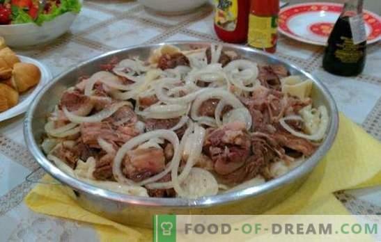 Homemade beshbarmak - a dish of Turkic peoples. Beshbarmak at home with lamb, partridge, turkey, pork