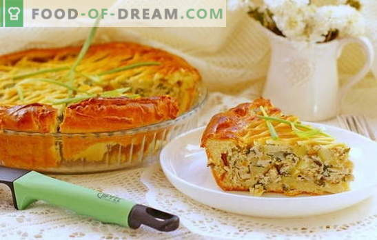 Pie with minced meat and potatoes in the oven - satisfying! Recipes pie with minced meat and potatoes in the oven of yeast and yeast-free dough